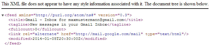 Gmail API - Keine E-Mail