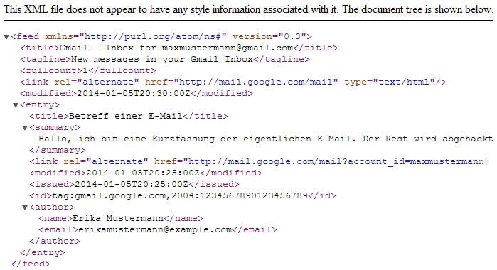 Gmail API - Eine neue E-Mail