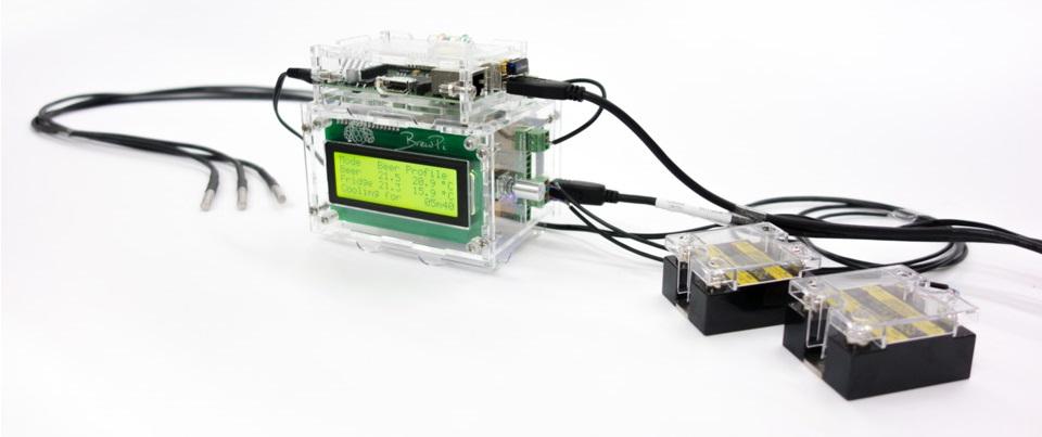 BrewPi Case 2.0 mit Sensoren (c) brewpi.com