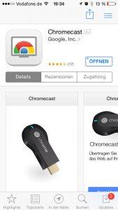 Chromecast App für iOS downloaden, installieren & öffnen