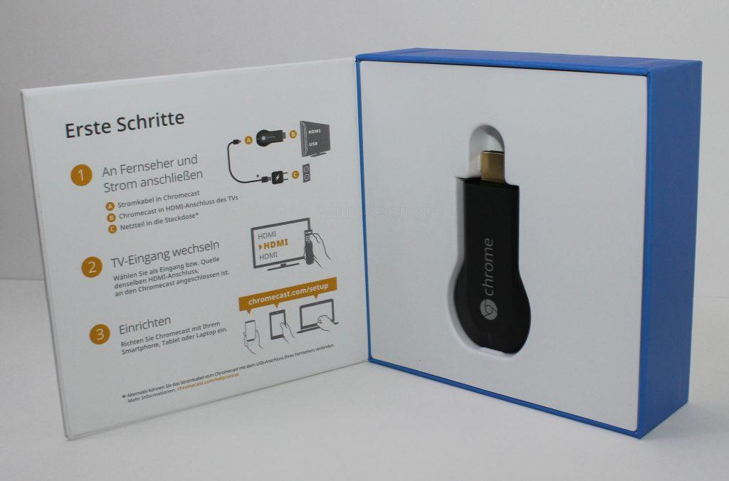 Google Chromecast - Verpackung geöffnet