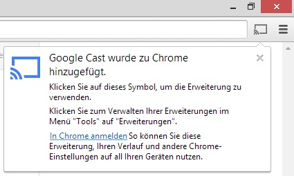 Chromecast unter Windows / Chrome