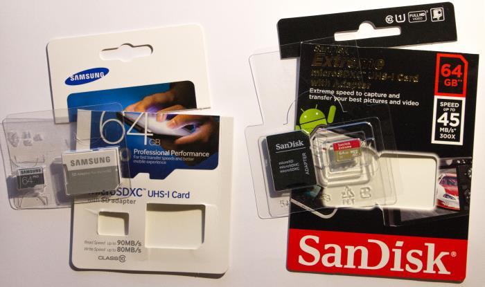 MicroSD-Karten-Verpackung