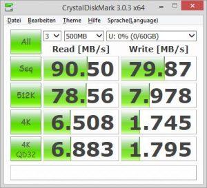 Samsung Pro microSDXC 64GB CrystalDiskMark