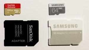 SanDisk Extreme vs Samsung Pro