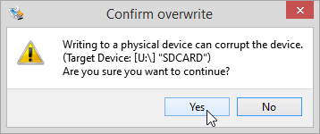 Confirm overwrite