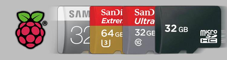 microSD-Karten für Raspberry Pi